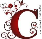 capital letter c red | Shutterstock .eps vector #86976452