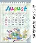 Calendar For August 2012. The...