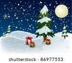 christmas night | Shutterstock .eps vector #86977553