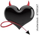 Devil Heart Love Colored Black...