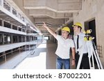 team of business people in... | Shutterstock . vector #87002201