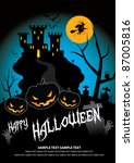 october 31 halloween is a... | Shutterstock .eps vector #87005816