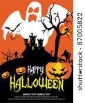 october 31 halloween is a... | Shutterstock .eps vector #87005822