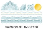 classic guilloche elements for... | Shutterstock .eps vector #87019520
