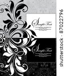 floral black and white... | Shutterstock .eps vector #87022796