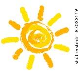 sun symbol illustration | Shutterstock .eps vector #87033119