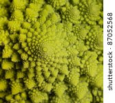 abstract full frame background with a romanesco cauliflower closeup - stock photo
