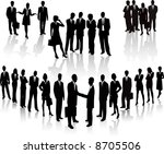 lots of people. business team... | Shutterstock .eps vector #8705506
