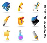 icons for education. vector... | Shutterstock .eps vector #87056210