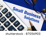 provide financial solutions and ... | Shutterstock . vector #87056903