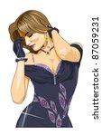 vector illustration beautiful... | Shutterstock .eps vector #87059231