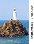 Corbiere Lighthouse, Jersey, The Channel Islands - stock photo