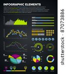 set of infographic charts ... | Shutterstock .eps vector #87073886