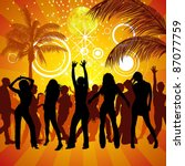 exotic party   colored... | Shutterstock .eps vector #87077759