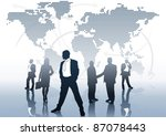 global business   business... | Shutterstock .eps vector #87078443