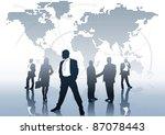 global business   business... | Shutterstock .eps vector #87078443