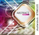 eps10 vector futuristic... | Shutterstock .eps vector #87080105