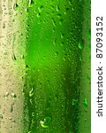 Droplets On The Bottle Of Beer...