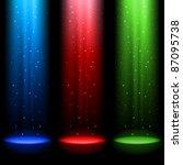 Three Rgb Shafts Of Light...