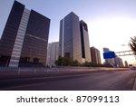 city street at dusk   Shutterstock . vector #87099113