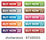 buy now buttons | Shutterstock .eps vector #87100331
