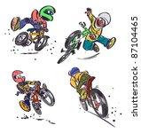 cartoon mountain bikers | Shutterstock .eps vector #87104465