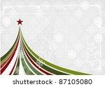 christmas tree banner in grunge ... | Shutterstock .eps vector #87105080