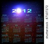 calendar for 2012 | Shutterstock .eps vector #87107272