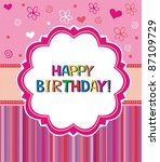 happy birthday greetings.... | Shutterstock .eps vector #87109729