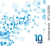 eps10  dna molecule  abstract...   Shutterstock .eps vector #87113350