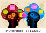 communication person.people... | Shutterstock .eps vector #87113380