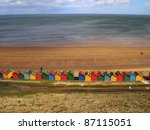 Beach Huts On Whitby Seafront