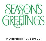 formal holiday vector lettering ... | Shutterstock .eps vector #87119830
