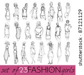 vector set of hand drawn style... | Shutterstock .eps vector #87121129