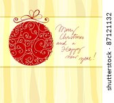 vector christmas doodle... | Shutterstock .eps vector #87121132