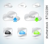 cloud technology icons   Shutterstock .eps vector #87122284