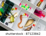 A Fisherman Tackle Box With...