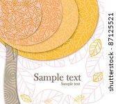 vector autumn tree | Shutterstock .eps vector #87125521