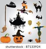 halloween set   Shutterstock .eps vector #87133924