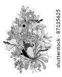 flower motif vector illustration | Shutterstock .eps vector #87135625