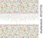 vintage floral seamless pattern | Shutterstock .eps vector #87137731