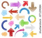 vector hand drawn arrows | Shutterstock .eps vector #87139084