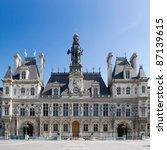 city hall of paris   france