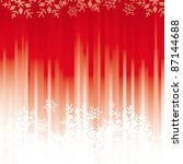 Red snowflakes background. A background for a postcard or a greeting card. - stock vector