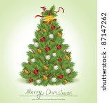 christmas tree | Shutterstock .eps vector #87147262