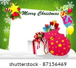christmas presents vector | Shutterstock .eps vector #87156469