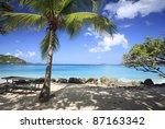 coconut palms at cinnamon beach ... | Shutterstock . vector #87163342