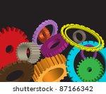 Cog wheel on abstract background gear vector - stock vector
