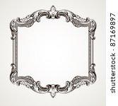 vector vintage border  frame... | Shutterstock .eps vector #87169897
