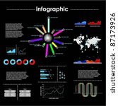infographic vector graphs and... | Shutterstock .eps vector #87173926